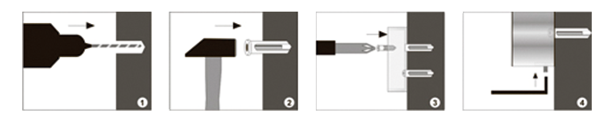 Installationsanleitung von Bad Accessoires wie Handtuchhalter Handtuchablage Zahnputzbecher Handtuchhaken Toilettenpapierhalter Toilettenbürstengarnitur Küchenrollenhalter Handtuchring Seifenspender