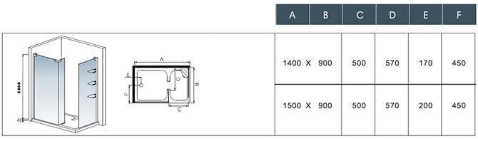 Dusche maße  8mm ESG Glas Walk In Dusche Duschkabine Glaswand Duschabtrennung ...