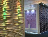 3D Wandpaneele / Wandverkleidung - Showroom, Ausstellung in Bad Essen